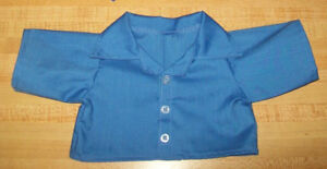 """LONG SLEEVED BUTTON FRONT SHIRT--ANY COLOR for 16-17"""" CPK Cabbage Patch Kids"""