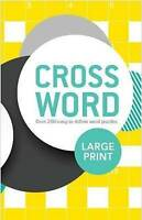 Large Print Crossword by Parragon BRAND NEW BOOK (Spiral bound, 2015)