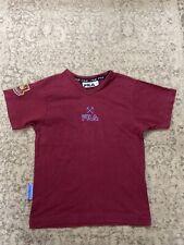 West Ham United FC Retro Vintage Training Shirt Fila Size 9-10 Years Old Rare