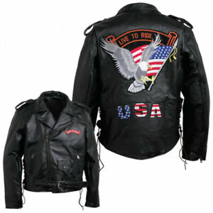 Diamond Plate Features large eagle patch on the back; zip-out polyester lining;