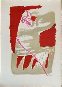 GASTONE BREDDO litografia 1971 Cartoccio Rosa 70x50 firmata pubblicata