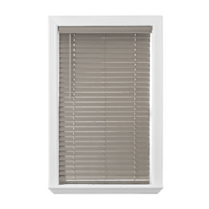Better Homes & Gardens Cordless 2-Inch Faux Wood Blinds, Rustic Gray