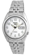 Seiko Automatic SNK377 SNK377K1 Men See Through Day Date Stainless Steel Watch