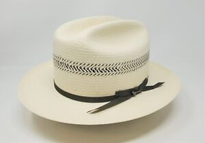 STETSON SHANTUNG STRAW VENTED OPEN ROAD 5 WESTERN HAT