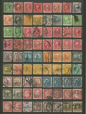 USA : LOT P 26 : 72 TIMBRES PERFORES - US PERFINS STAMPS