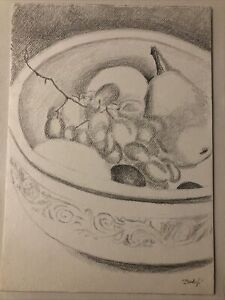 Bowl With Fruits, A4 drawing