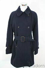J.Crew Stadium Cloth Boulevard Trench 10 Navy $350 NWT 18597 Wool Winter Coat
