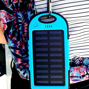 Cargador Solar Portatil Para Celular Bateria Externa 2 Puertos Celulares 5000Mah