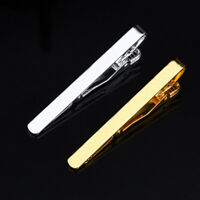 Gentlemen Decors Tie Clip Men Metal Copper Silver Gold Tone Simple Necktie Clasp
