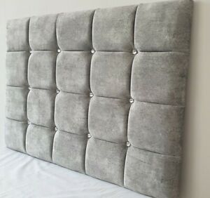 """SUPER CUBE PADDED HEADBOARD BED HEAD IN MARBLE VELVET 24"""" OR 28"""" FREE DELIVERY"""