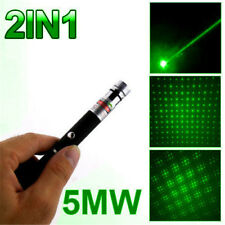 5mw 532nm Green 2in1 Laser Pointer Pen Beam Light High Power Lazer+Star Cap Tool