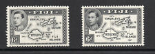 FIJI 1938-40 King George VI 6d. Black Die I & Die II SG 260 & SG 261 MINT