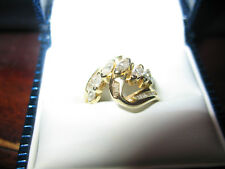 MARQUIS / BAGUETTE DIAMOND RING 14KT YG retail value 3700.00