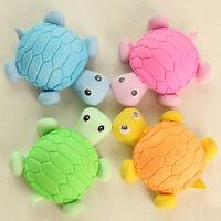 4Pcs Creative Cartoon Mini Tortoise Rubber Pencil Eraser School Or Office Use