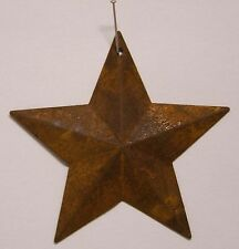 "10 Rusty Tin Stars 2D With Hole (2-1/4"") Primitive Craft Supply"