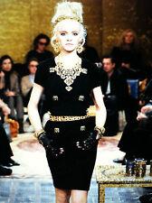 Chanel 11A NEW Paris-Byzance Tweed Black MULTICOLOR GRIPOIX Buttons Dress FR36