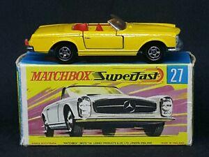 Matchbox Superfast MB27-A3: Mercedes-Benz 230SL, Typ.G Box (Yellow *Red seats)
