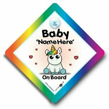Baby Unicorn Baby on Board, Custom Car Sign, Personalised Baby On Board Sign