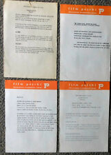 1975 Film Festival Film Polski Promo Sheets ~ ZBIGNIEW RYBCZYNSKI, etc.