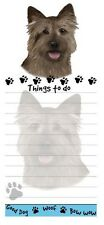 Cairn Terrier Dog Diecut List Pad Notes Notepad Magnetic Magnet Refrigerator
