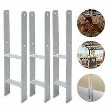 1-6 Stück H-Anker Verzinkter Pfostenträger Stahl verzinkt Pfostenanker Zäune