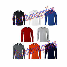 Men's No Pattern Long Sleeve Loose Fit Crew Neck Casual Shirts & Tops