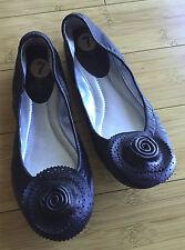 Brand New NINE WEST ROBUST Black Leather Flat Ballet Shoes 7 M 7M Ninewest