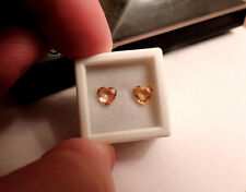 2pc Heart Shaped Natural Peach Sapphires. Cut by me :) 1.65tcw