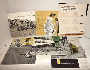 Vintage Lot of 6 - 1940 Caterpillar Tractor Bulldozer Catalog Sales Brochures