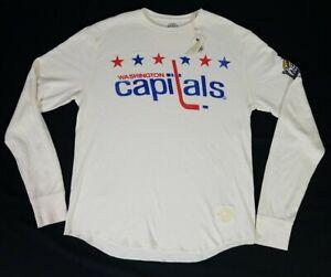 Washington Capitals NHL 2011 Winter Classic Retro Sport LS Thermal Shirt S NWT