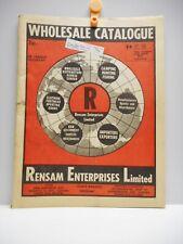 Vintage - RENSAM ENTERPRISES LIMITED - WHOLESALE CATALOGUE - TORONTO 1972