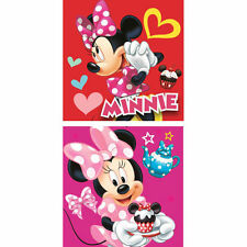 DISNEY lot de 2 serviettes invités essuie mains carrée MINNIE  30 x 30 cm