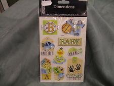 BABY BOY STICKER EMBELLISHMENTS DOVECRAFT DIMENSIONS PREMIUM