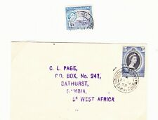 GAMBIA  1953-7 CAPE ST MARY  POSTMARK ON STAMP & COVER