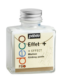 Pebeo Deco Gilding Paste 75ml - Gold Size Adhesive for Leaf Metal Foil & Flakes