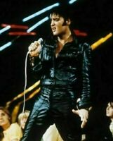 ELVIS PRESLEY ROCK N ROLL REAL LEATHER JACKET TROUSER PANT BLACK VINTAGE SUIT