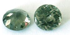 7 mm Fancy Checkerboard Round brillant cut green Created Spinel