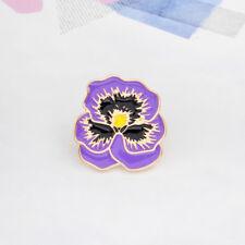 Flower Shape Denim Jacket Collar Pin Badge Enamel Brooch Fashion Jewelry