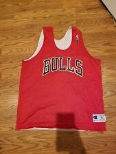 Vintage 90s Chicago Bulls Champion NBA Practice Basketball Jersey XLarge Jordan