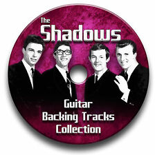 155 tracks THE SHADOWS & HANK MARVIN MP3 CD GUITAR BACKING TRACKS