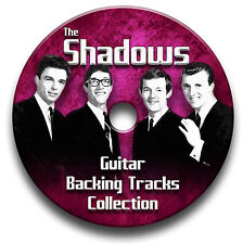 156 TRACKS THE SHADOWS & HANK MARVIN MP3 CD GUITAR BACKING TRACKS