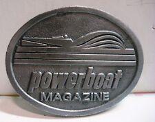 Powerboat Magazine - Hit Line USA - Pewter Belt Buckle - Vintage