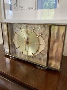 Vintage Metamec Mantel Clock Retro Eue Sputnik Atomic Mid Century