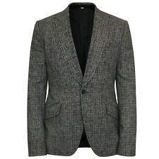 JOHN GALLIANO men's houndstooth virgin wool peak lapel blazer jacket 38 / 48 NEW