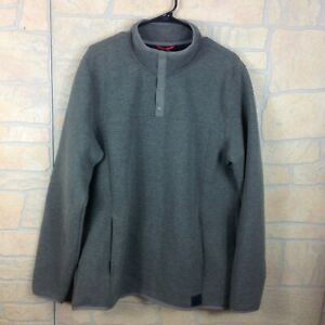Gerry Mens Size XL Olive Green Sweatshirt 1/4 Snap Pullover Textured New