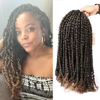"11Stands Passion Twist Crochet Hair 18"" Pre-twisted Passion Twist Hair Braids"