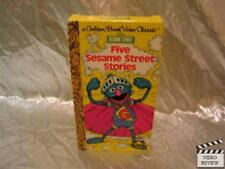 Sesame Street Five Sesame Street Stories VHS Animated