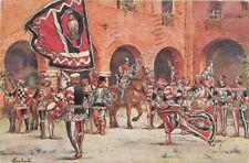 Cartolina - Postcard - Illustrata -  Giunti - Siena - Comparsa della Civetta