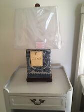New 2 Ralph Lauren Floral Blue & White Traditional Porcelain Table Lamps