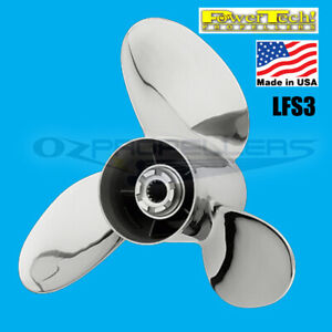 3x 16 x 16 Suzuki Stainless PowerTech LFS3 Blade Prop 150-175-200-225-250-300hp